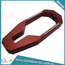 OEM Taiwan Red anodized high quality aluminum cnc machining parts