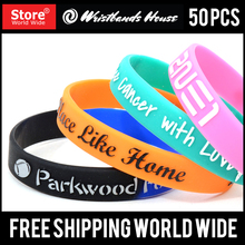Rubber wristbands | Elegant silicone bands | custom logo silicone bands