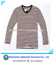 long sleeve black white striped t shirts