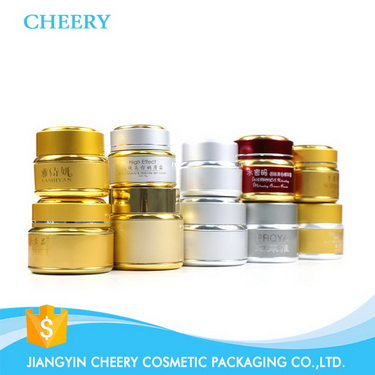 aluminum gold cap 30g cream jar amber glass cosmetic jar with lid wholesale