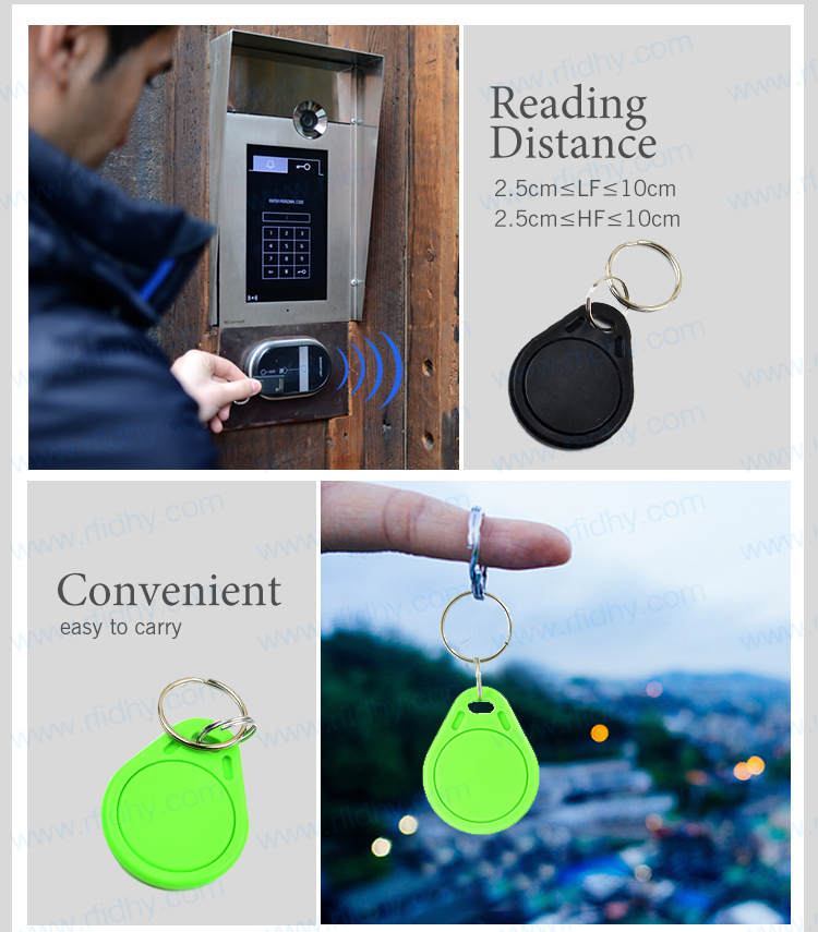 ABS Case Access Control Proximity AB13 RFID Card Tag Keyfob Keyring with Low Cost