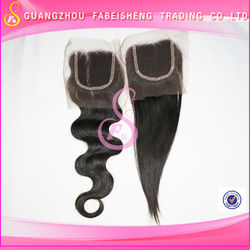 16 inch 2013 new arrival top grade 100% virgin Brazilian human hair silk base lace closure