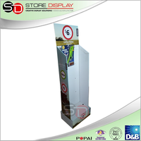 Cardboard Display Stand For Plastic spoon Hook Cardboard Gift Card Pop Display
