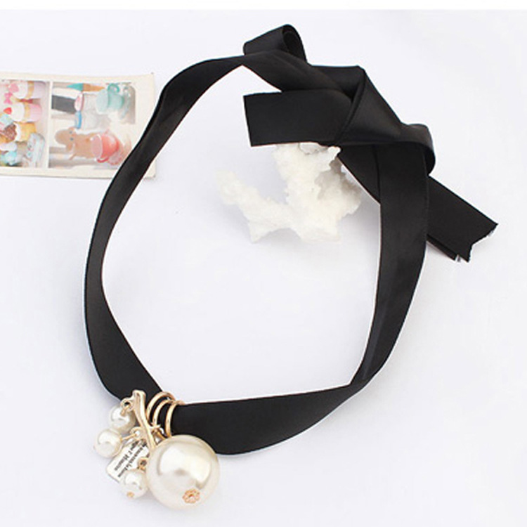 Fine Jewelry Colar Jewelry 2015 Hot Sale Promotion Chains Necklaces Pendants Korea Korean Sweet Lady Pearl Simple Rope Necklace