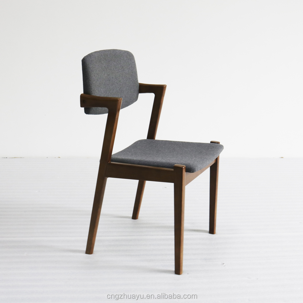 solid ash wood design dining chair