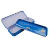 factory cusotmed hinged inner lid tin pencil box