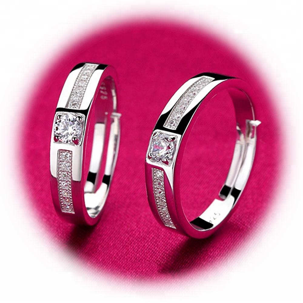 Elegant appearance Synthetic brilliant cut moissanite 925 silver ...