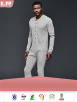 Winter Cotton Long Sleeves Soft Men's Onesie Leisure Wear