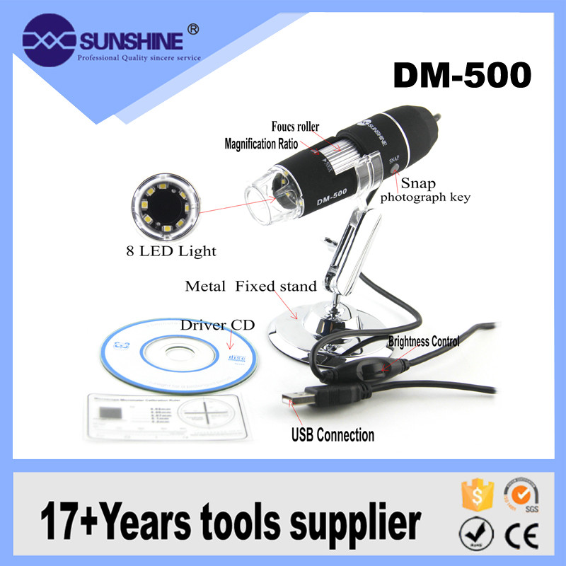 Most Popular 200x Measurement Software 1.5m Usb Microscope Digital With Led Lights