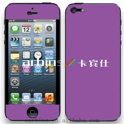 Matte Pink wrap decal sticker skin For iPhone 4,4S,5 full body