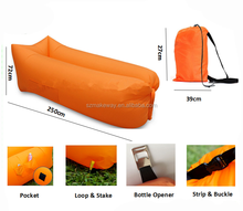 Popular inflatable hangout air sleeping bags for beach camping nylon portable lazy sofa chair