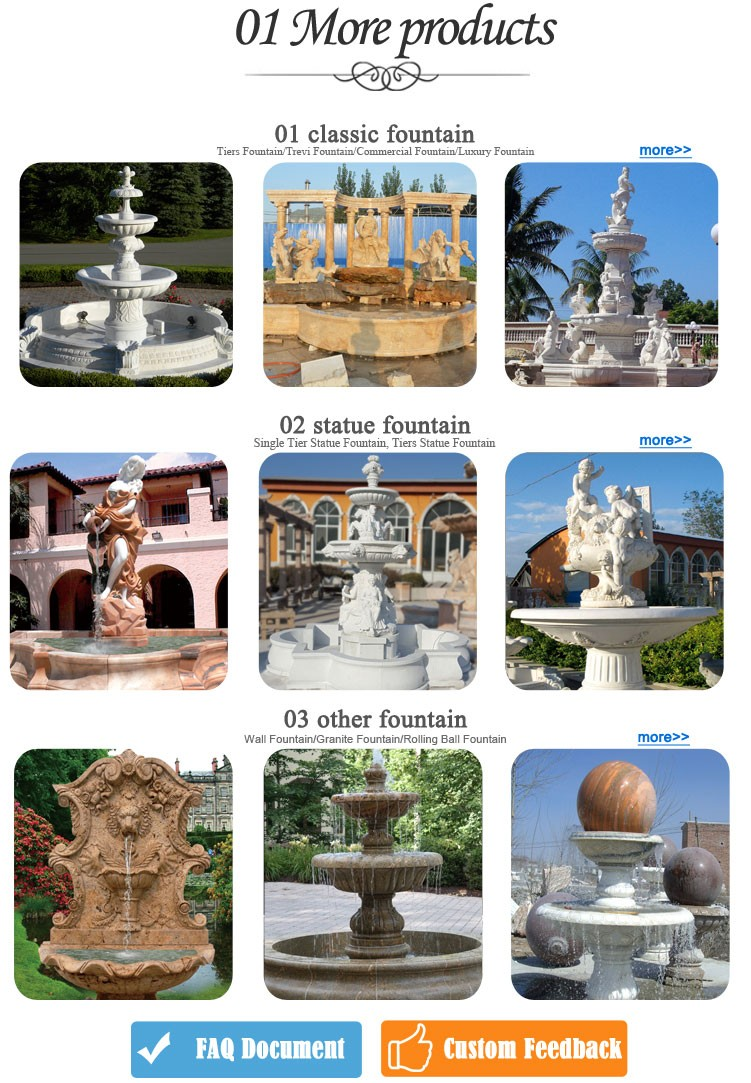 Factory Sale Garden Marble Horse Outdoor Water Fountains