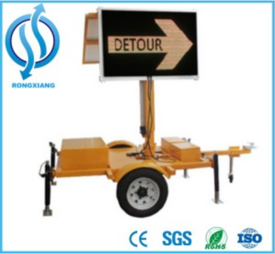 Solar Mobile Arrow Trailer LED Traffic Direction Sign