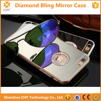 New Cell phone Rhinestone Bling Diamond Crystal Mirror Hard Case For iphone 4 4s
