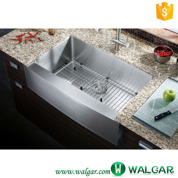 Apron Front Installation Type and Single Bowl Sink Style stainless steel handmade farmhouse apron sink