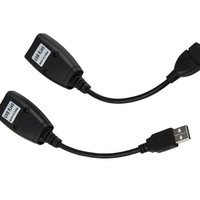 USB Extension Adapter Cable CAT5/CAT6 RJ45 Lan Power Extension Cablead Apter For Network Cable