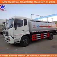 White Product Transport Lubricant Tank Truck