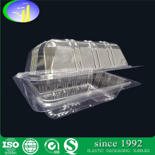 Disposable clamshell plastic bread cake baking tray