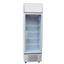 200L To 600L Commercial Glass Door Beverage Display Cooler Drinks Fridge Supermarket Refrigerator Upright Freezer Showcase Lock