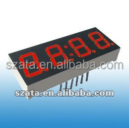 digital number led display board with 4 digits in red color