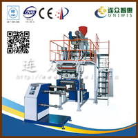 50kg/h output single layer water-cooling ldpe film making machine