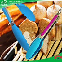 Heartproof silicone bread tongs food clip[ / silicone bread tweezers