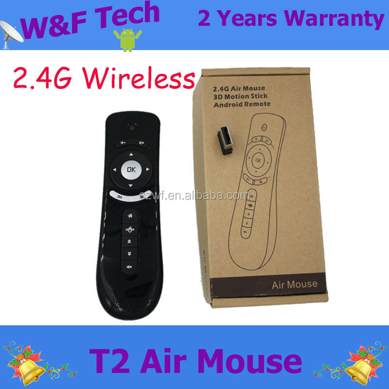 Fly Air Mouse T2 2.4G Wireless 3D Remote Sensing Android Remote Air Mouses