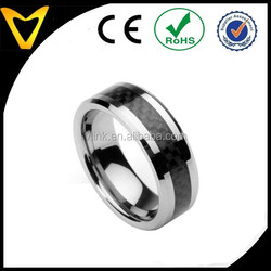 Men's Tungsten Ring Wedding Band with Carbon Fiber Inlay, Sizes 7 - 12 by Vlink Jewelry