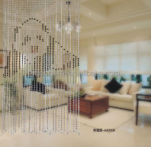 windows curtain design crystal panda animal pattern curtain for living room