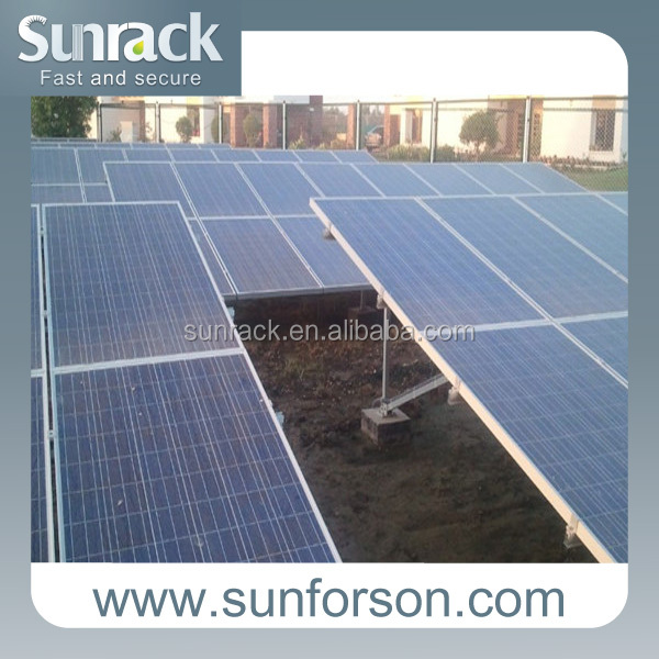 Solar panel mounting aluminum rail pv installation solutions