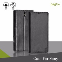 Best Cell Phone Accessory Real Leather Case For Sony C5 Ultra