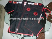 Brazilian Jiu jitsu kimono gi black with red Stitching. maxid martial arts. bjj gi