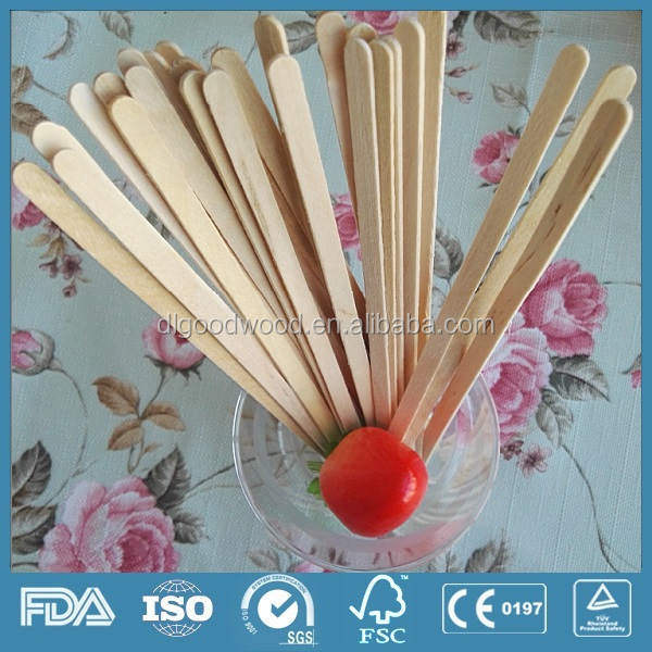 100% natrual & compostable one time used wooden coffee stirrer