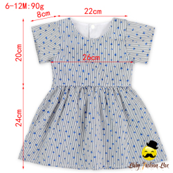 Latest Stripes with Bowknot Belt Baby Girls Summer Dress Children Frocks Designs Cutting