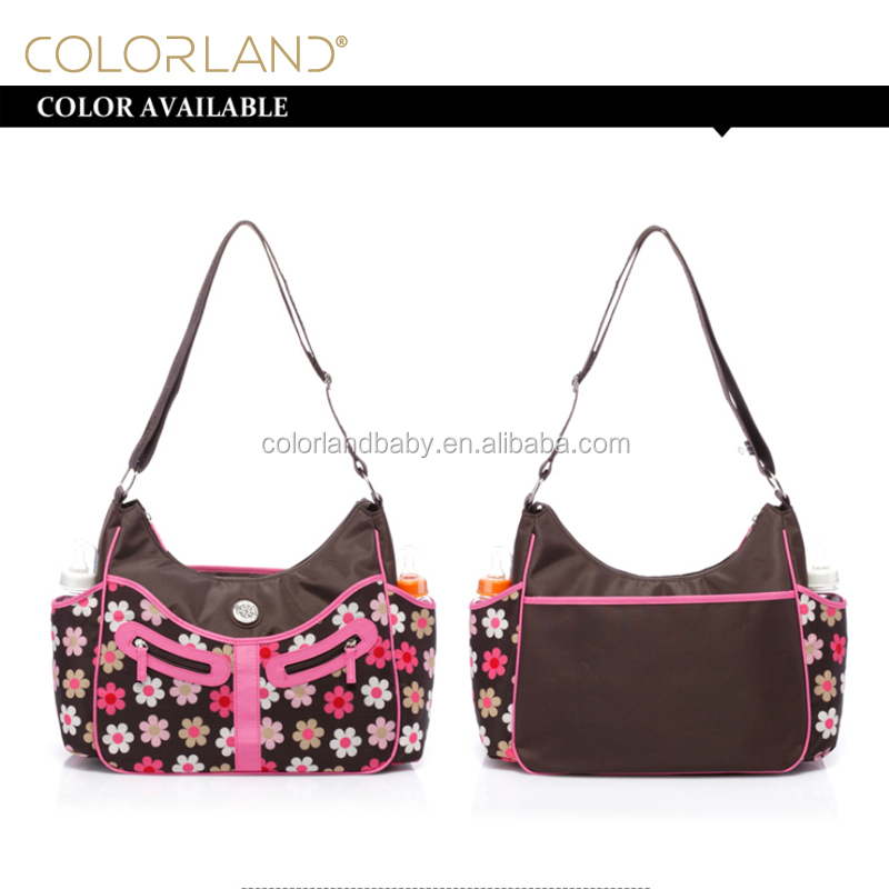 Colorland <strong>Fashionable</strong> Women Stylish Hobo Diaper Bag Mummy Travel Bag With Changing Mat Stock & OEM