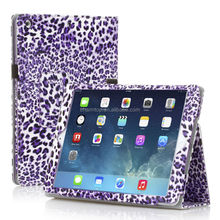 Leopard Leather Stand Case For iPad 5