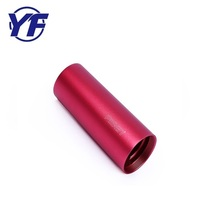 Factory price aluminum torch cover , OEM colorful flashlight shell , cnc machined spare part