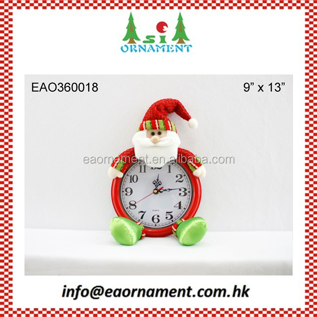Christmas clock for home decoration in red and green color