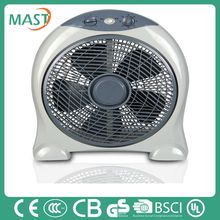 Household silent box fan With PP material three fast speed for room equipment