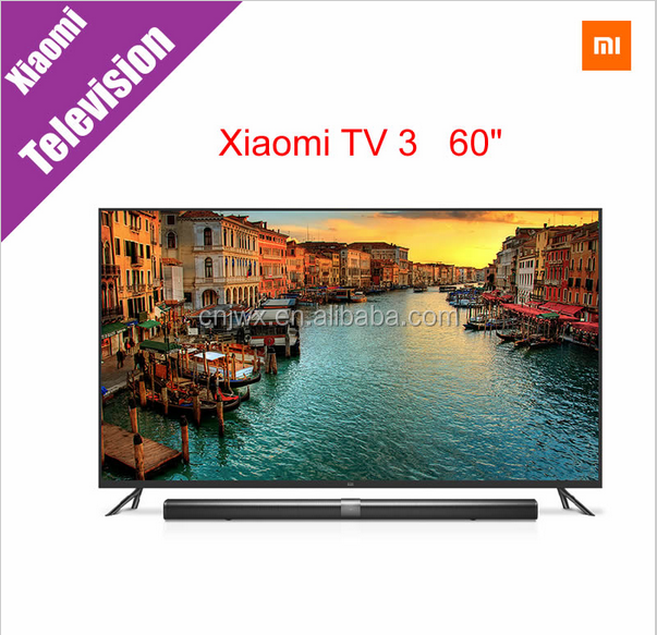 "Original New Xiaomi TV 3 60"" Inches Smart TV English Interface Screen Real 4K 3840*2160 Ultra HD Quad Core Household TV"