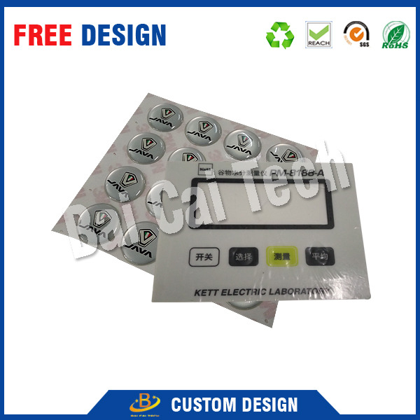 Custom waterproof membrane switch for central control system