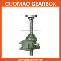 China worm gear 4 hole flange mount small screw jack