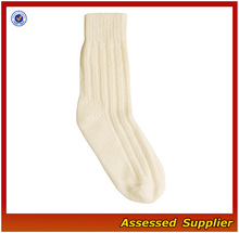 Milk White Women Elegant Design Cashmere Socks/Mellow Style Women Socks