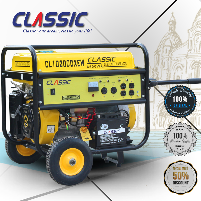 CLASSIC CHINA GX340 Gasoline Engine 15hp Gasoline Generator, Key Start The Gasoline Generator With Big Fuel Tank