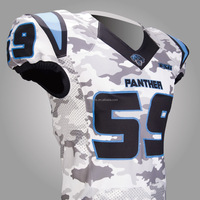 Capless sleeves football jersey Panther