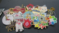 Kinds Embossed Enamal car badges/Cloisonne Lapel Pin With Butterfly Pin GFT-H066