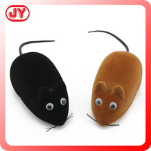 2015 hot sale cheap plastic animals pull back flocking mouse toy for kids