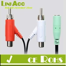 Linkacc37S Audio Splitter Cable for Turtle Beach X1 X11 X12 Headset RCA to Female 3.5mm