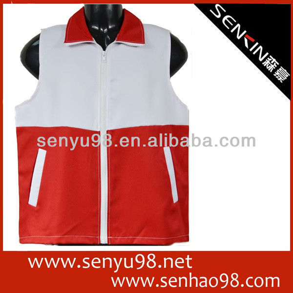 100% polyester zip enterprise uniform, customize vest