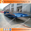 Customized mobile trailer loading ramp used for container with forklift